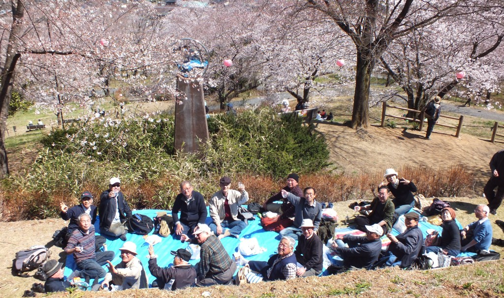 2019年4月4日(木) 越生町・さくら山公園での観桜会