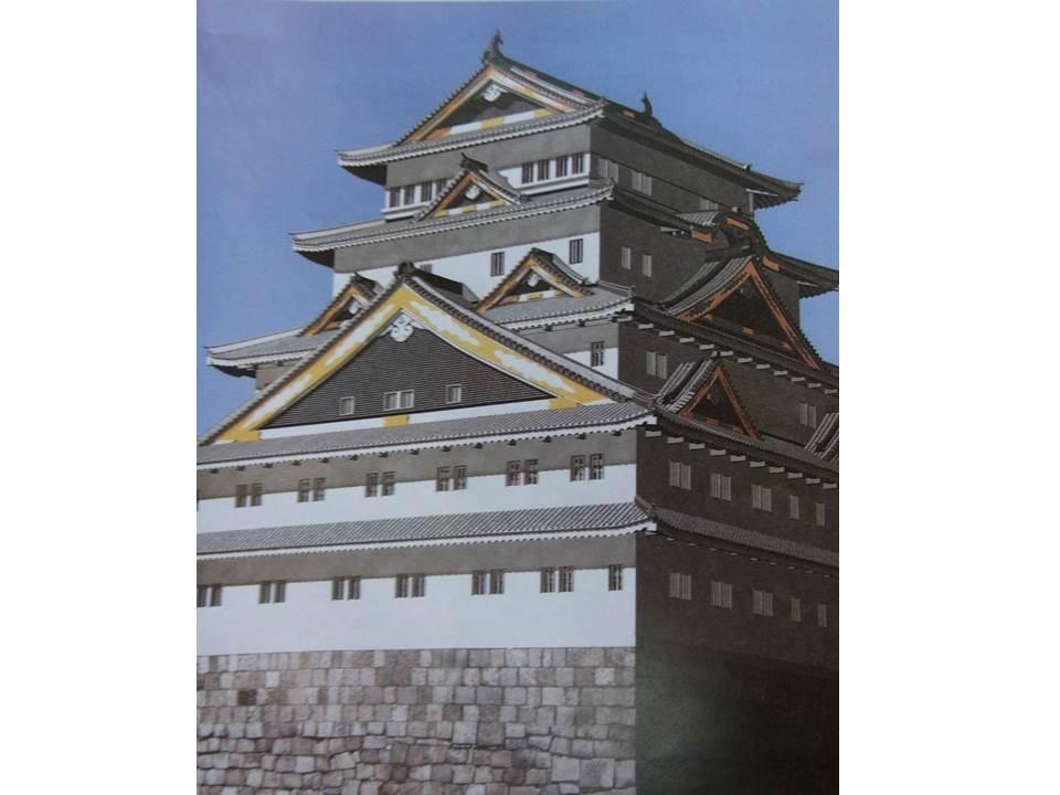 徳川家康が建てた江戸城天守閣の想像図
