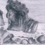山尾岳水 陸中海岸三王岩